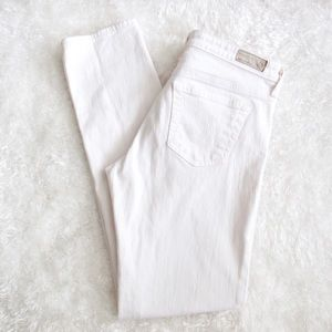 AG Adriano Goldschmied White Jeans Stilt Cigarette